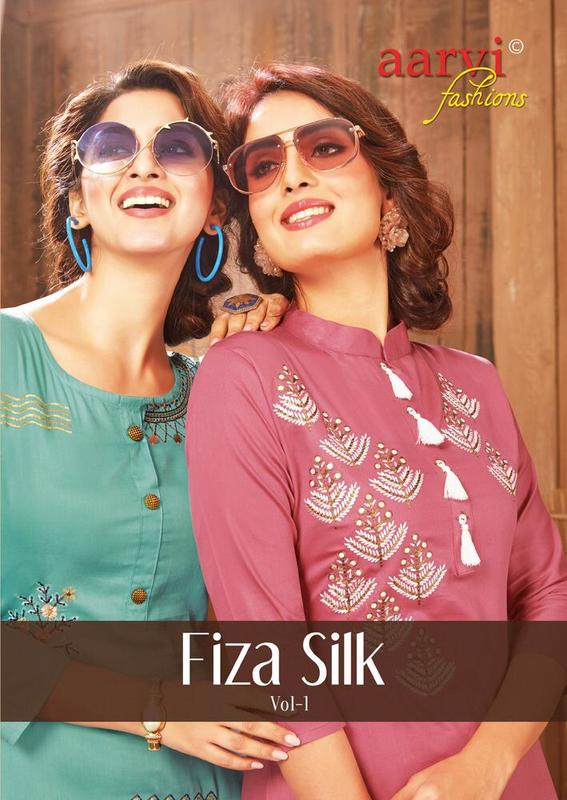 Aarvi Fiza Silk Vol 1 With Plazzo