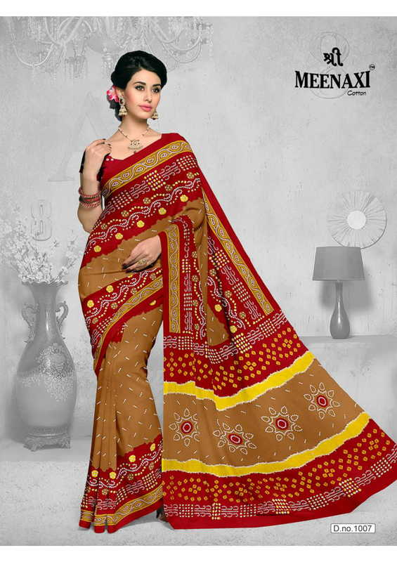 Shree Meenaxi Bandhani Cotton Sarees Vol 1