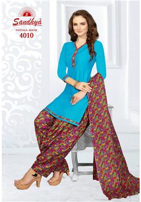 Sandhya Patiyala House Vol 4 Readymade - 4010