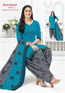 Shree Ganesh Panchi Vol 3 Unstitched Material - 5102 A