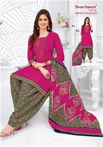 Shree Ganesh Panchi Vol 3 Unstitched Material - 7001 A