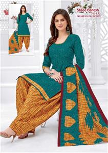Shree Ganesh Panchi Vol 3 Unstitched Material - 7014 A