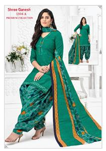 Shree Ganesh Panchi Vol 3 Unstitched Material - 5104 A