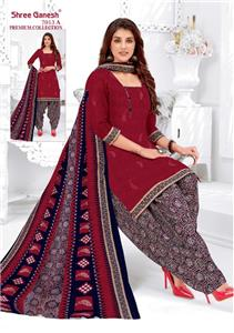Shree Ganesh Panchi Vol 3 Unstitched Material - 7013 A