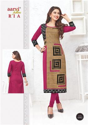AARVI RIA VOL 1 UNSTITCHED KURTIS SUPPLIER